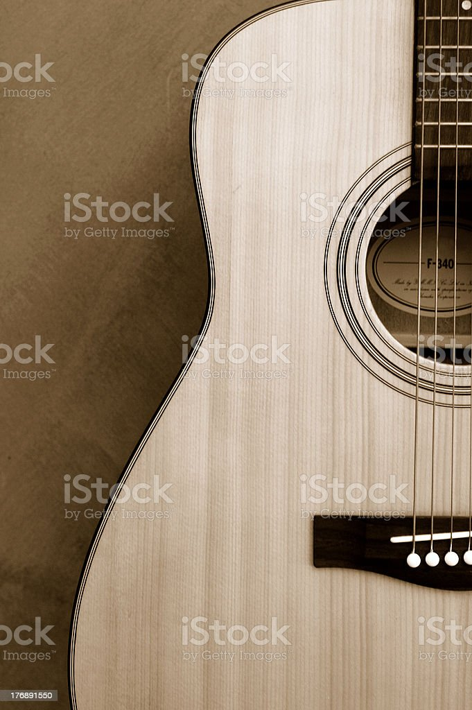 Guitar in Sepia royalty-free stock photo