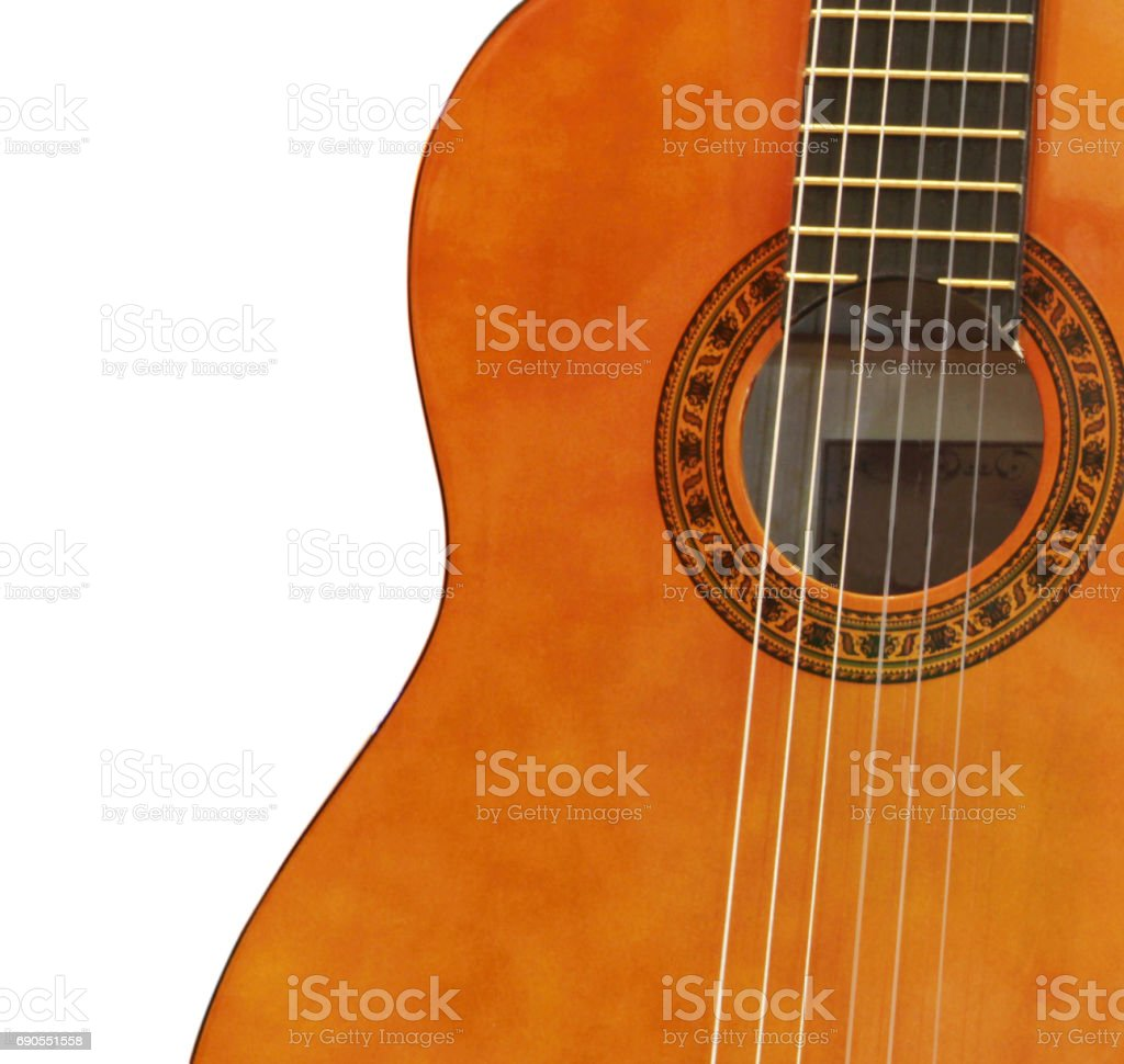 guitar isolated on a white stock photo