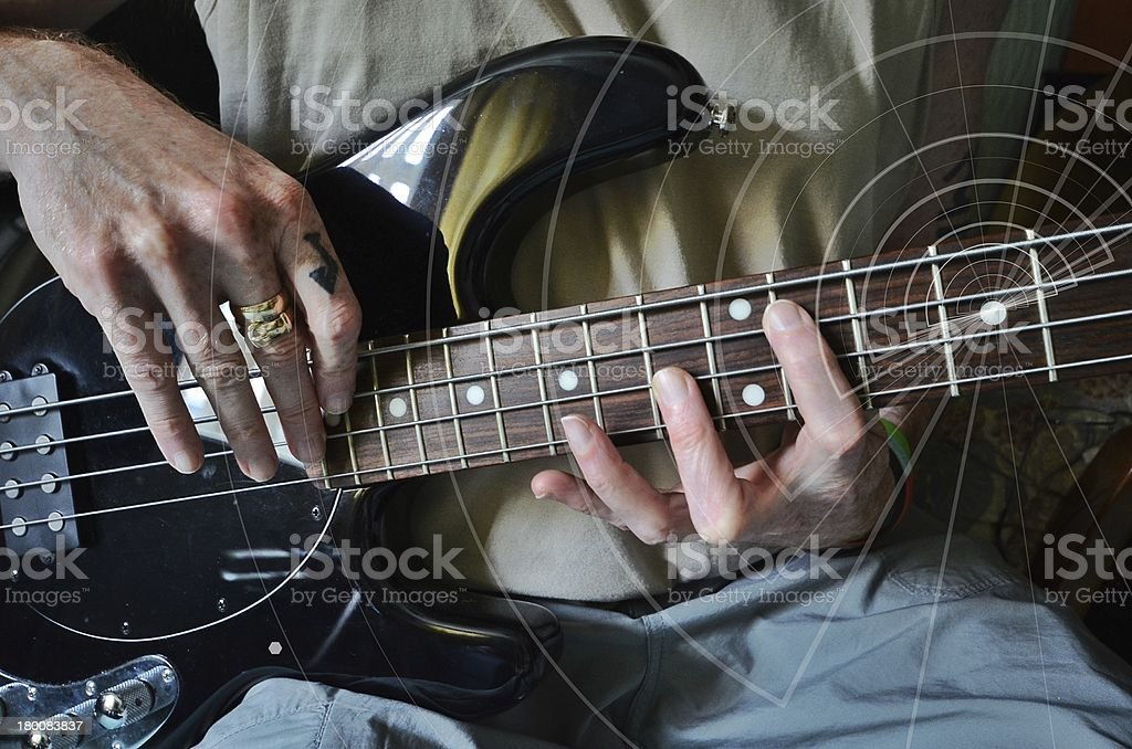 Guitar lesson royalty-free stock photo