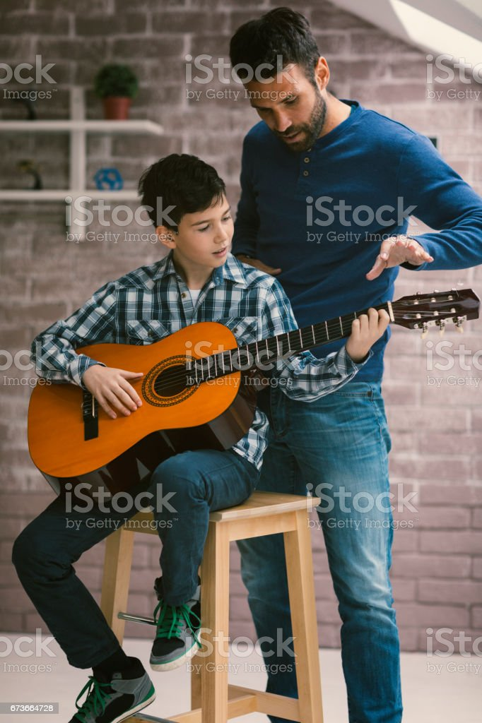 Guitar Lessons stock photo