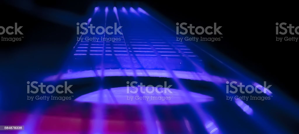 Guitar Lighting Effect stock photo