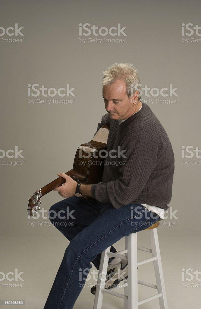 Guitar Man 2 stock photo