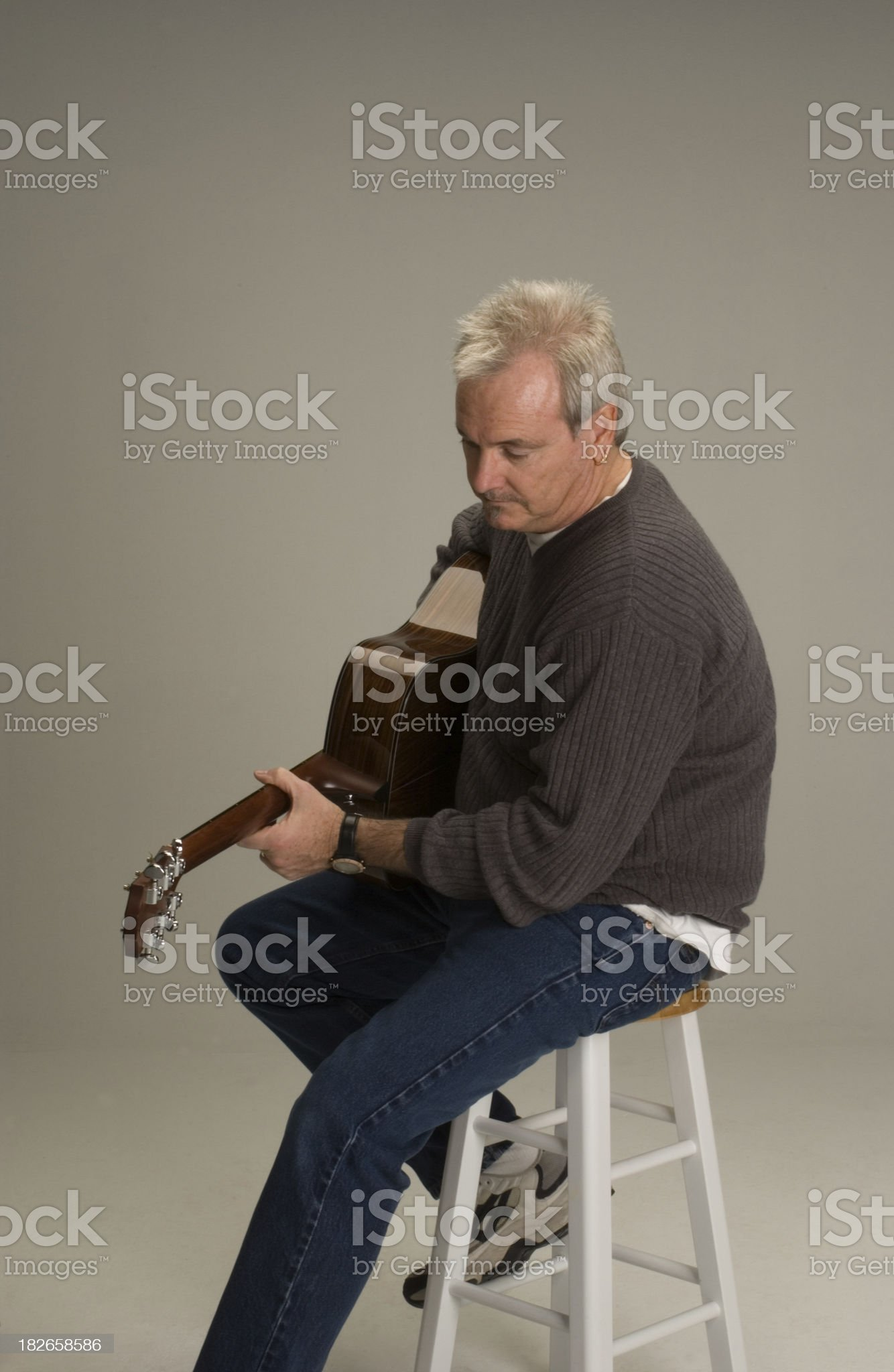Guitar Man 2 royalty-free stock photo