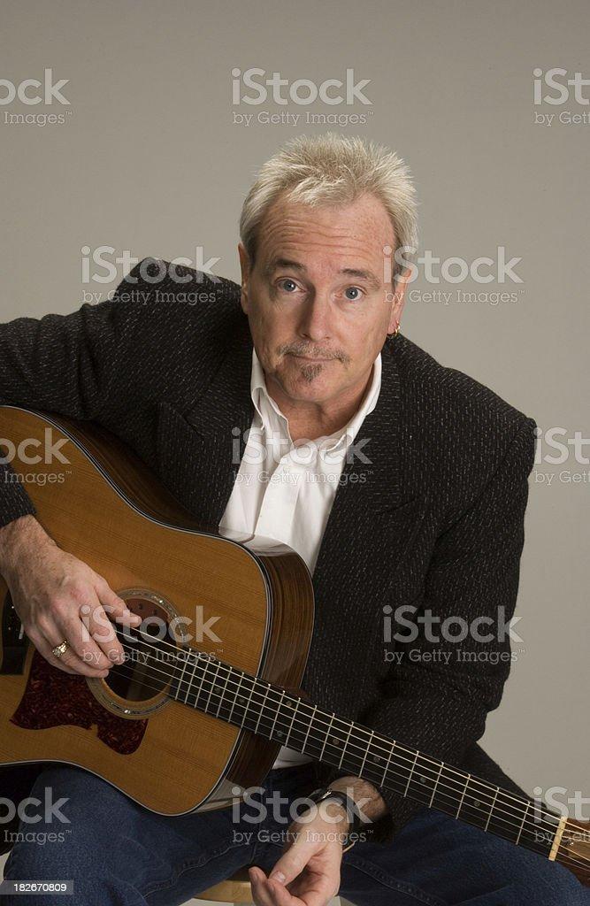Guitar Man 4 stock photo