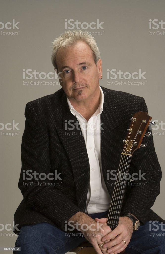 Guitar Man 5 stock photo