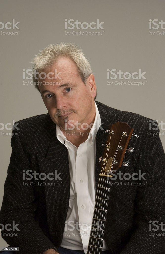 Guitar Man 6 stock photo