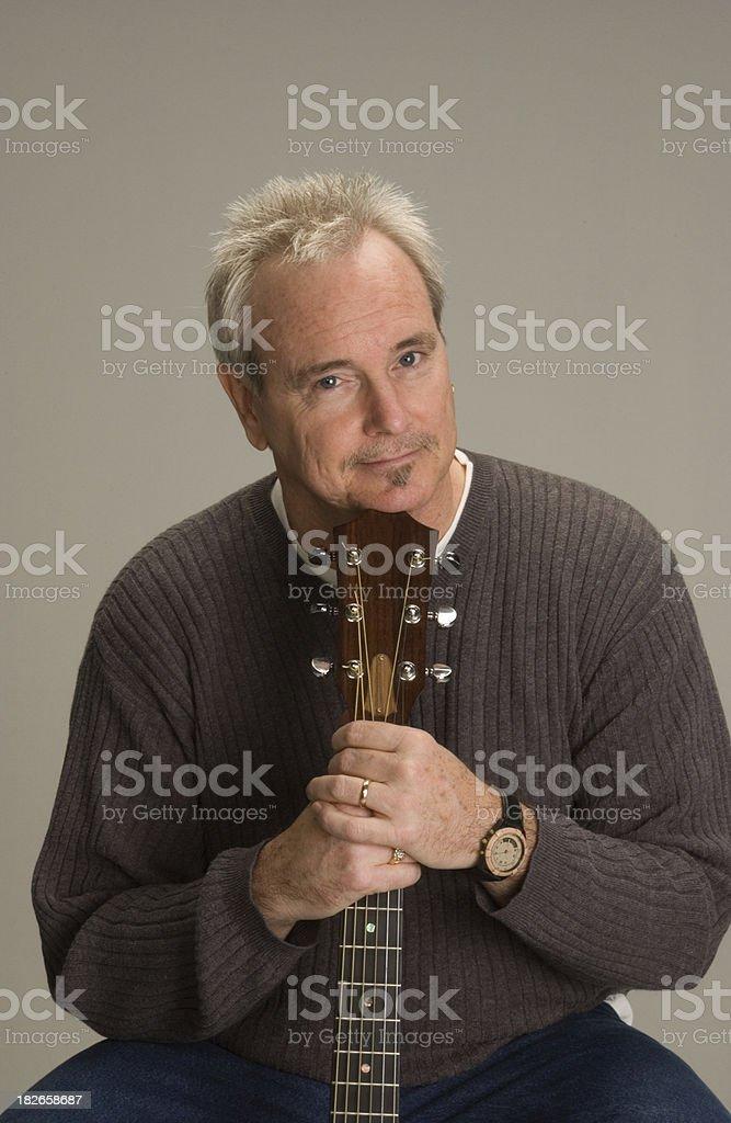 Guitar Man 8 stock photo