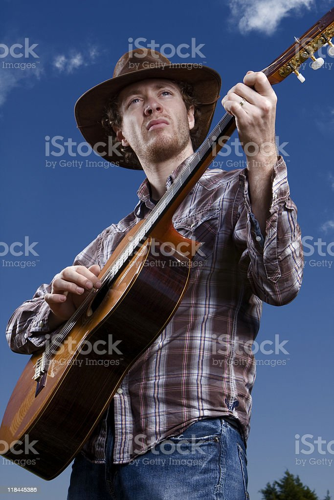 Guitar Man stock photo