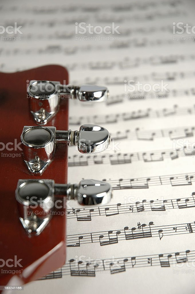 guitar music and notes royalty-free stock photo