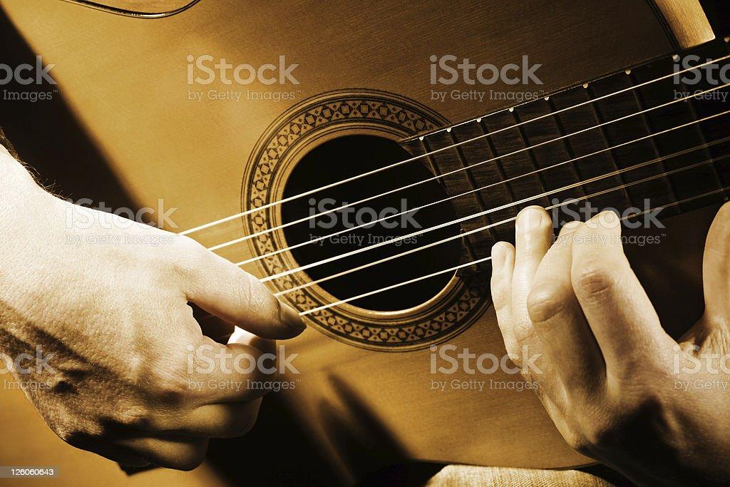 Guitar music art. stock photo