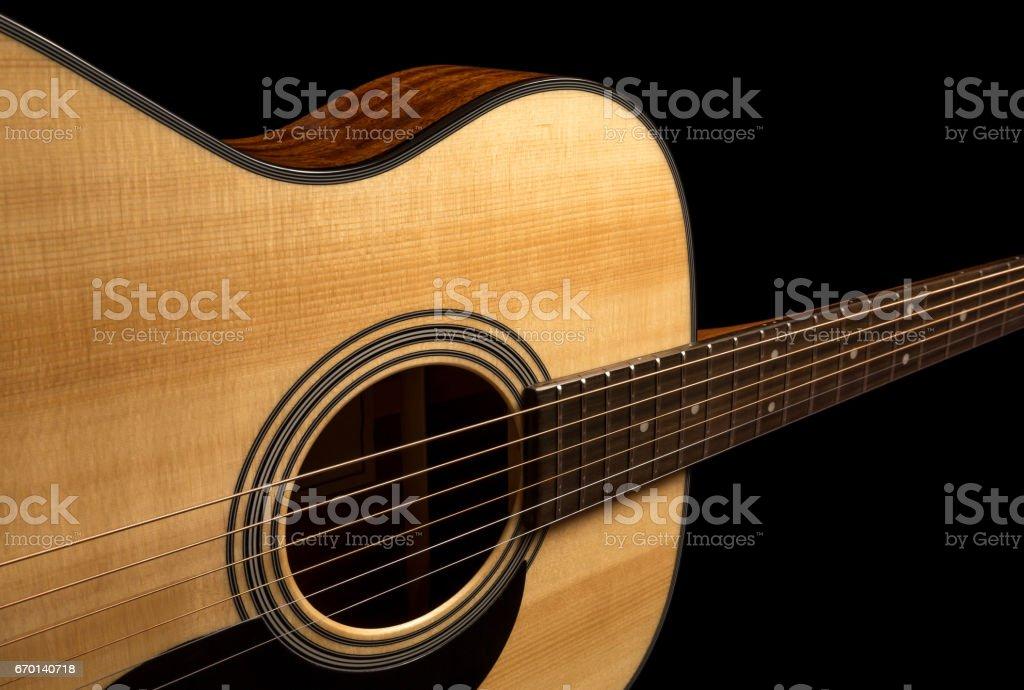Guitar on black stock photo