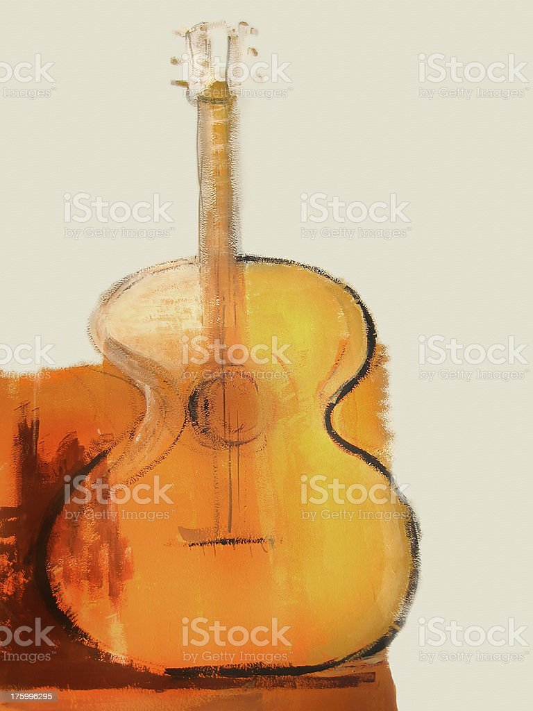 guitar painting royalty-free stock photo