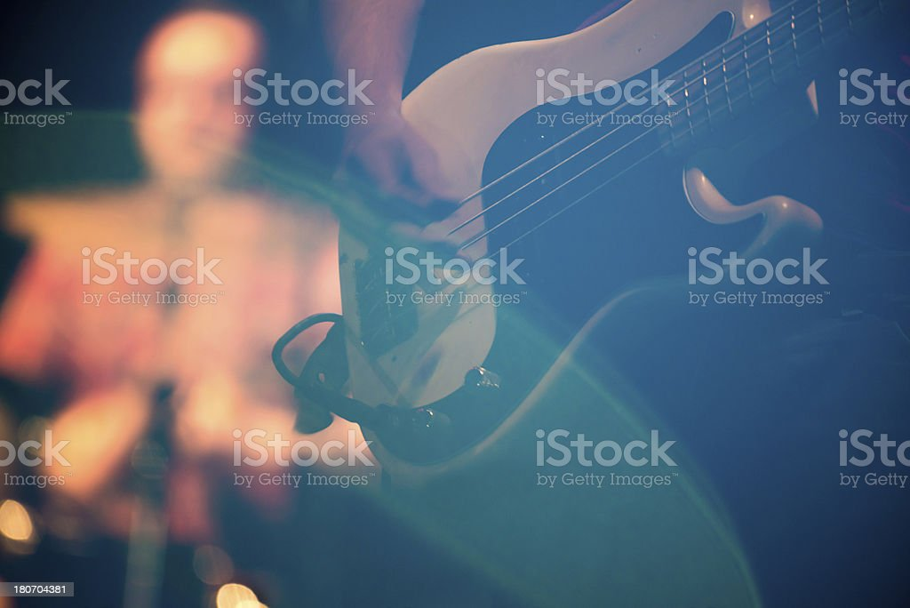 Guitar performance stock photo