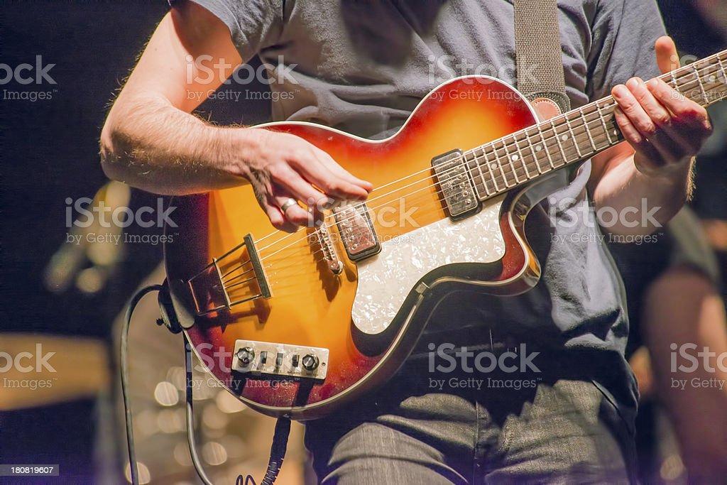 Guitar performance royalty-free stock photo