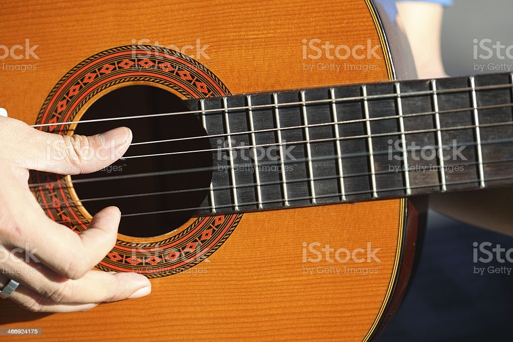 guitar  played outdoors royalty-free stock photo