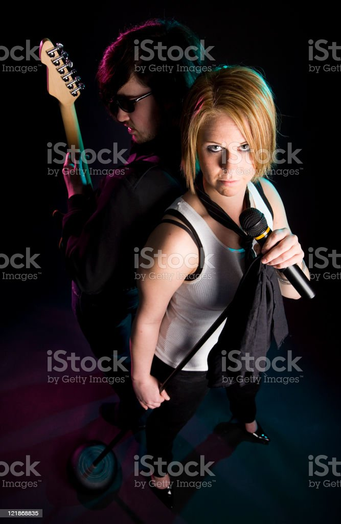 Guitar Player and Singer royalty-free stock photo