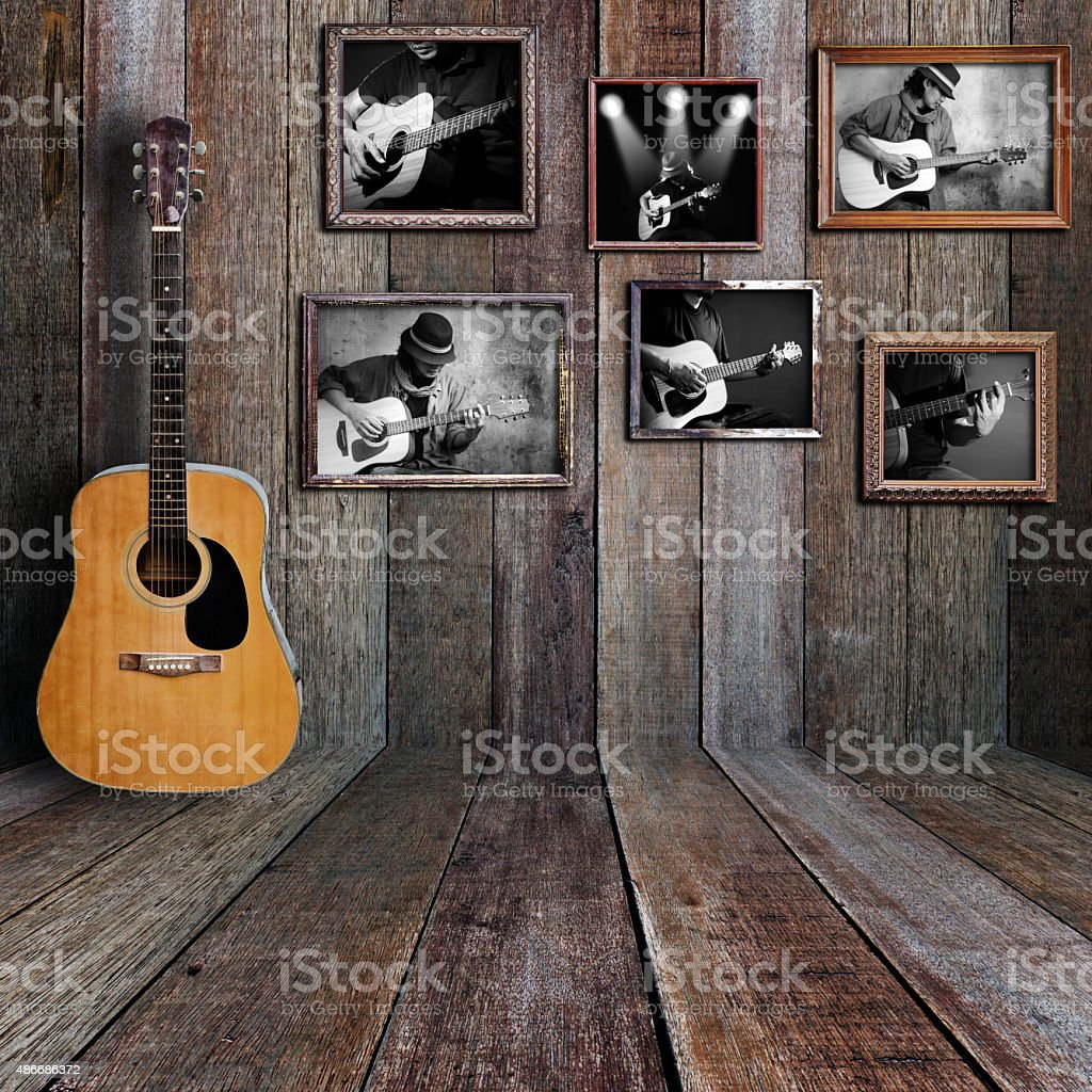 Guitar player photo stock photo