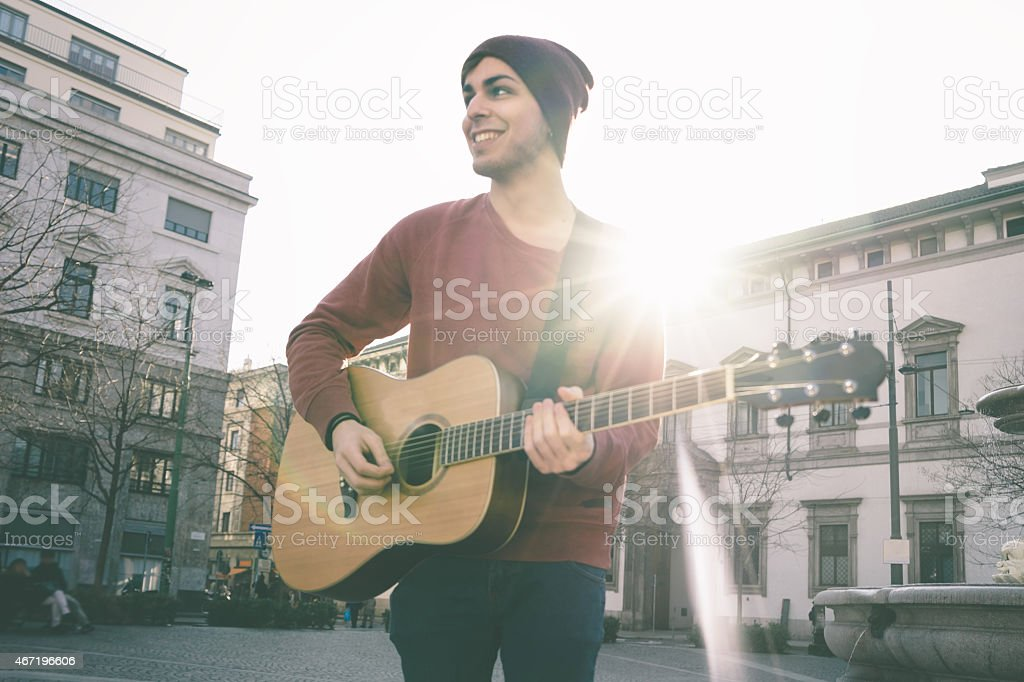 Guitar Player stock photo