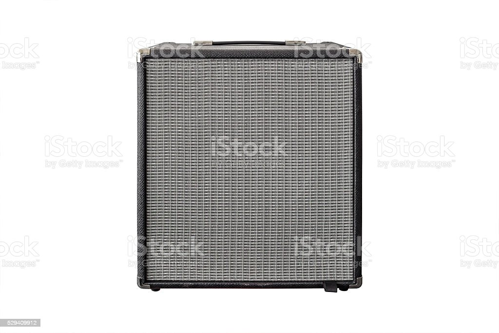 Guitar Power Amplifier isolated on white stock photo