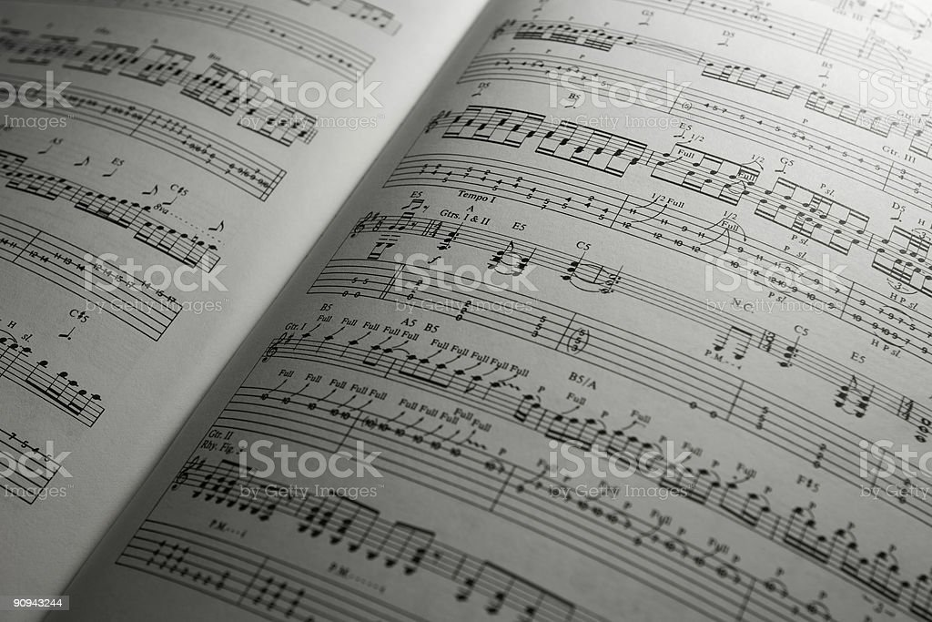 Guitar Sheet Music stock photo