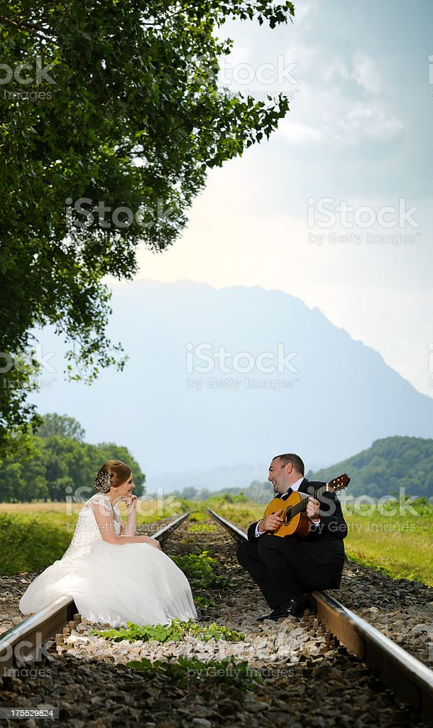 guitar singing royalty-free stock photo