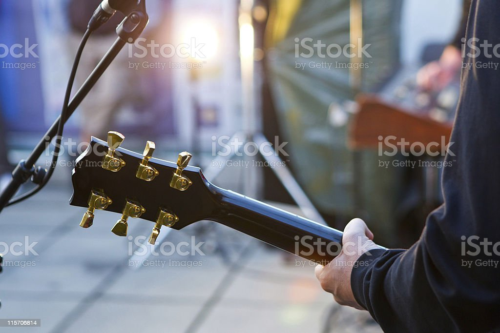guitar solo stock photo