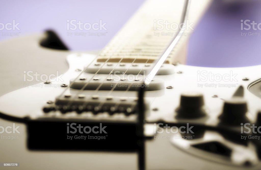 Guitar String Close Up stock photo