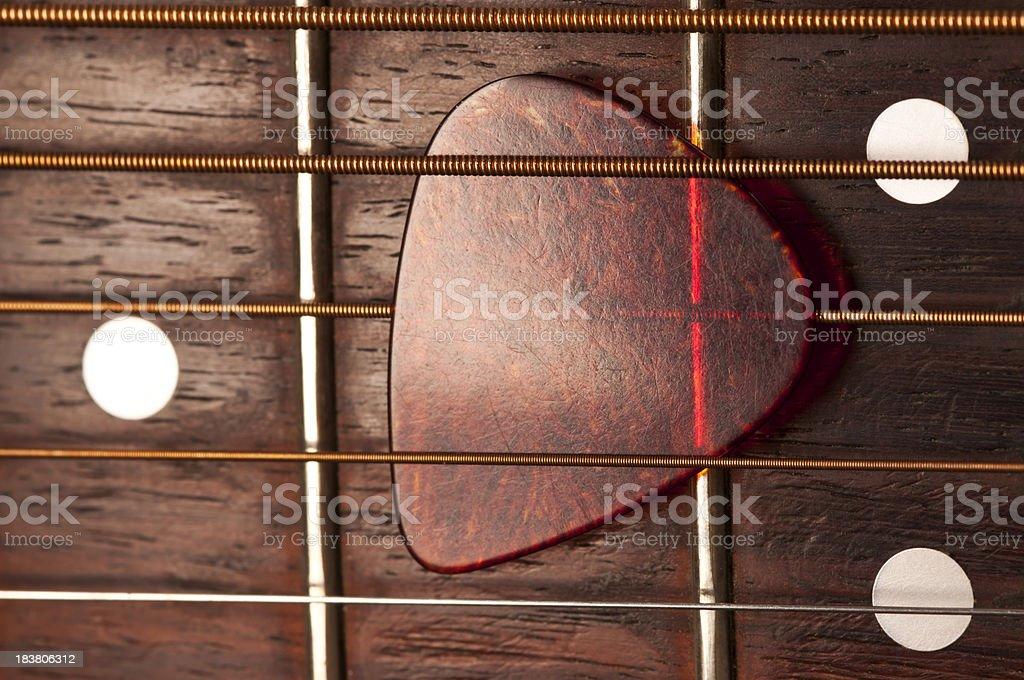 Guitar Strings Pick stock photo