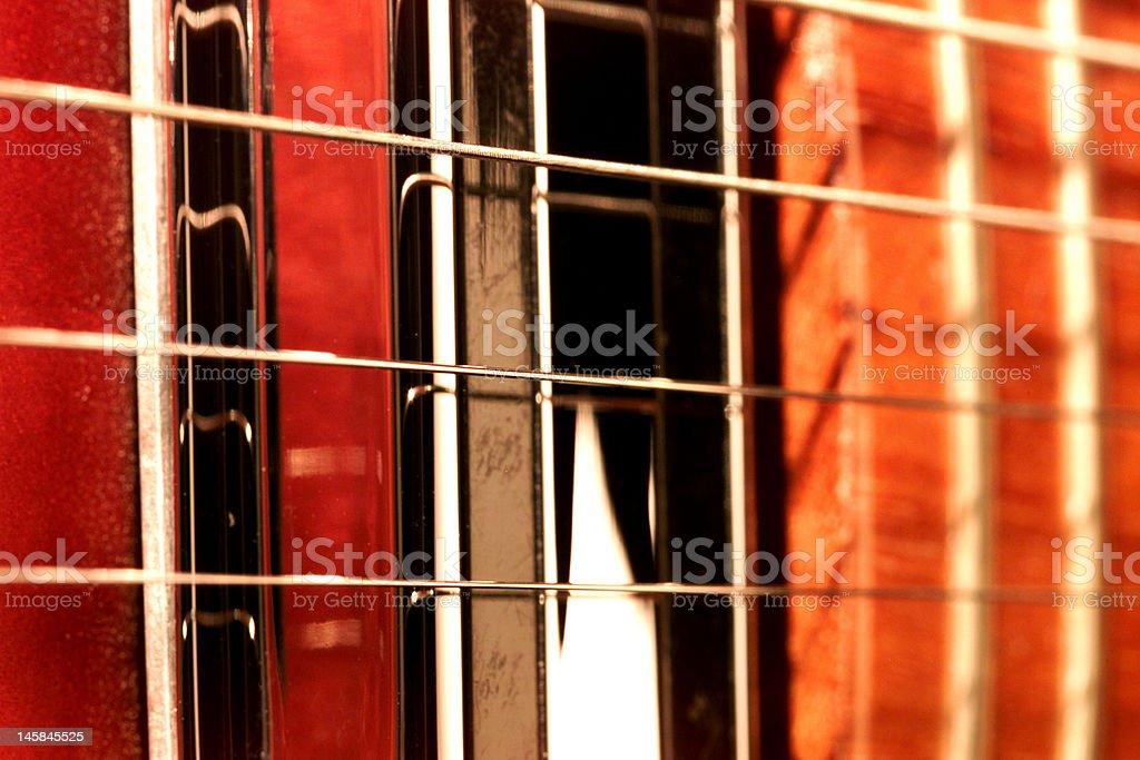 Cordes de guitare photo libre de droits