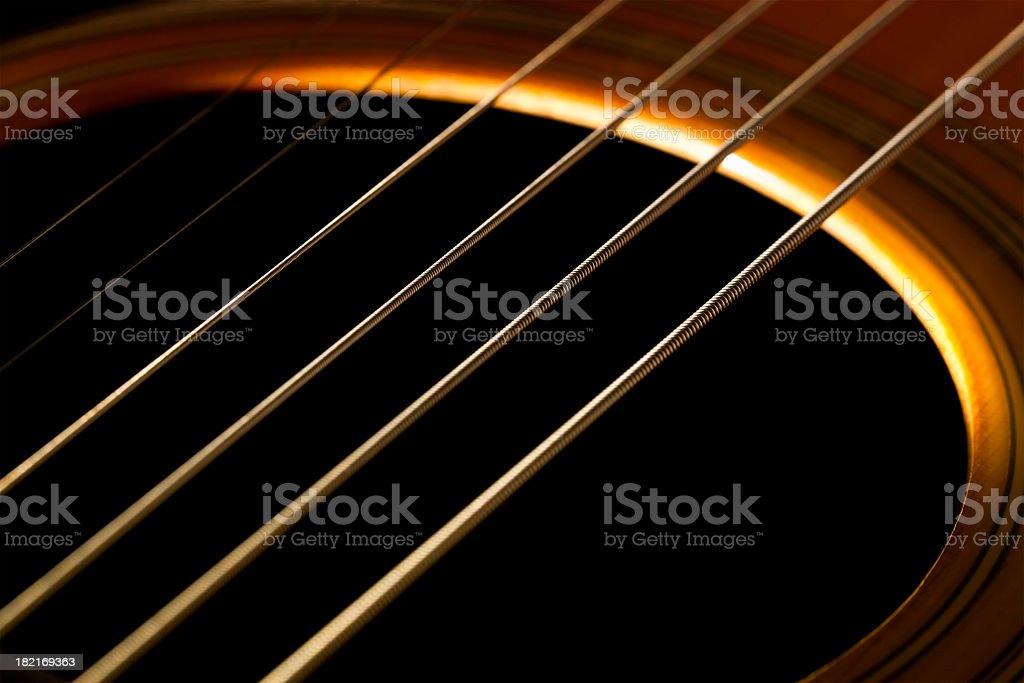 guitar strings stock photo