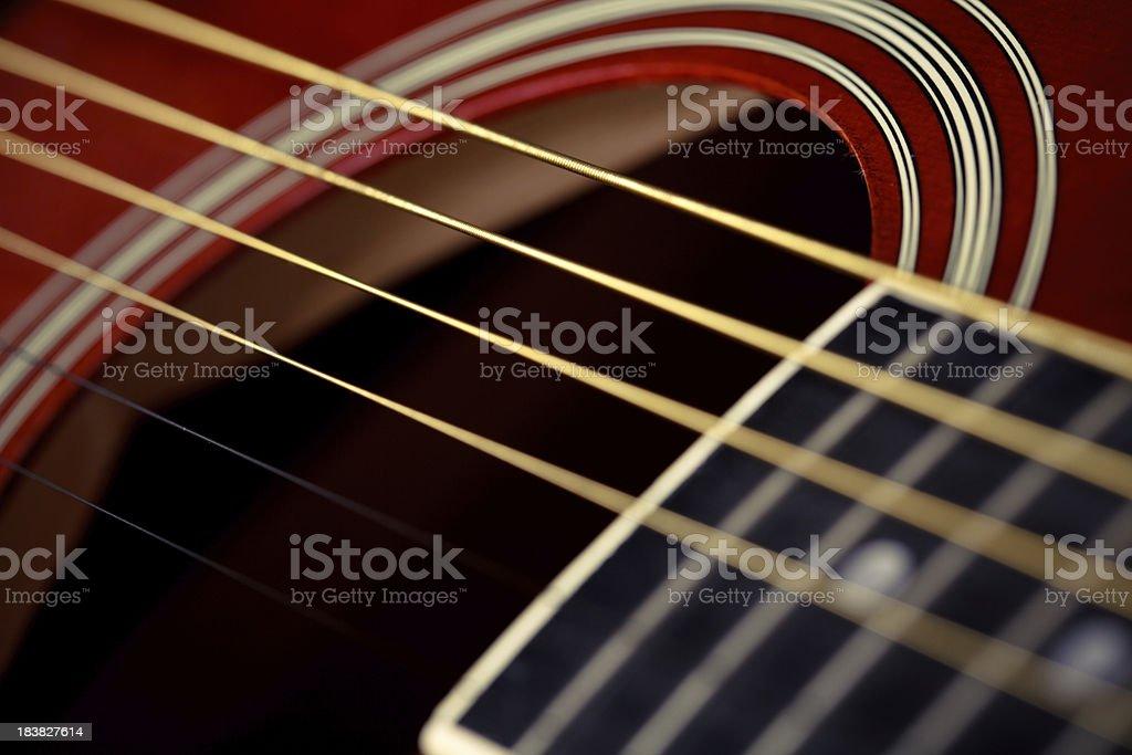Guitar strings royalty-free stock photo