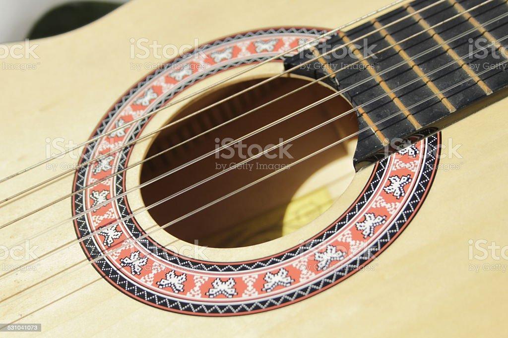 Guitarra de cuerda foto de stock libre de derechos