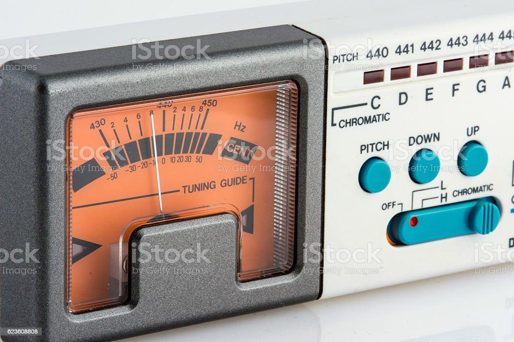 Guitar Tuner stock photo