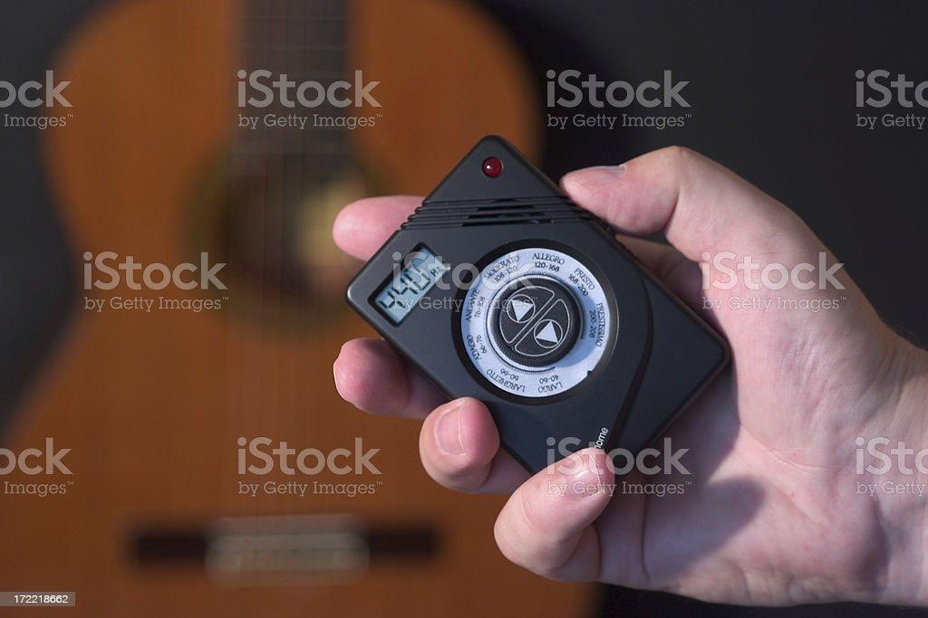 Guitar tuning stock photo