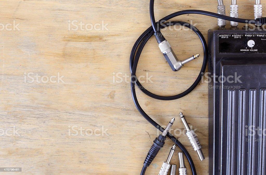Guitar volum pedal stock photo