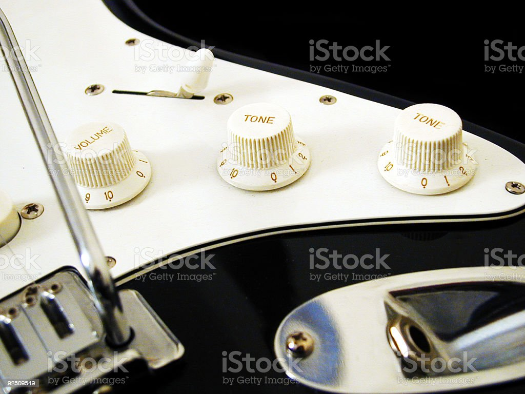 Guitar - Volume and Tone 2 royalty-free stock photo