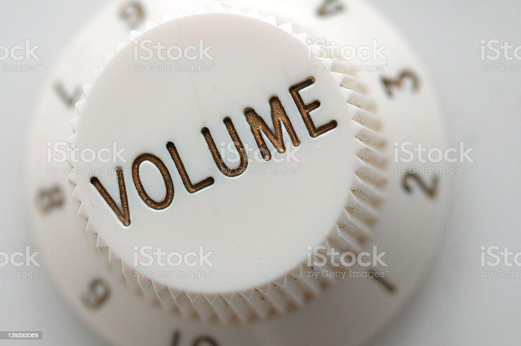 Guitar Volume Knob Macro stock photo