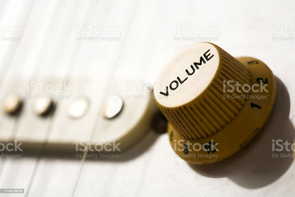Guitar volume stock photo