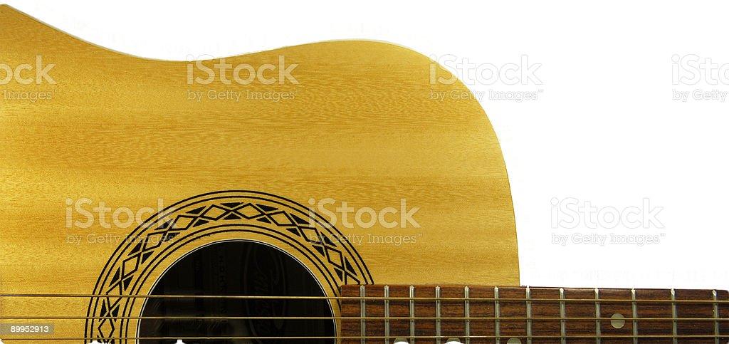 Guitar & White Background stock photo