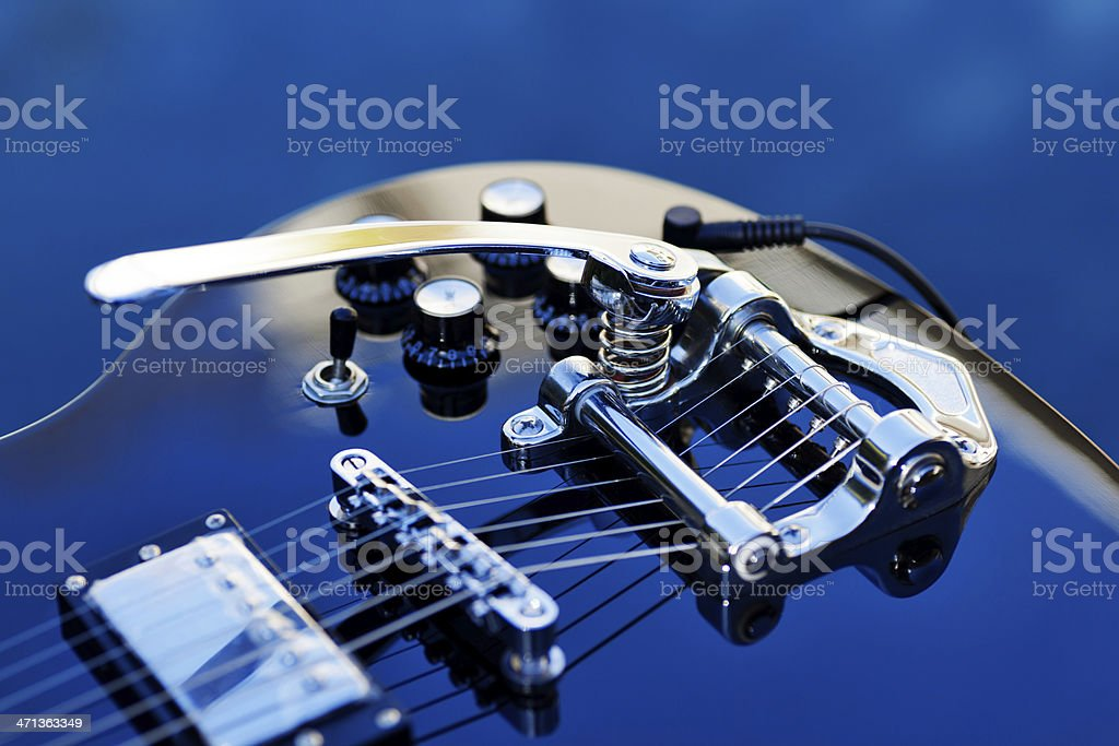 Guitar with Tremolo stock photo