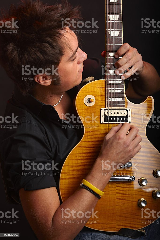 Guitarist. Color Image stock photo