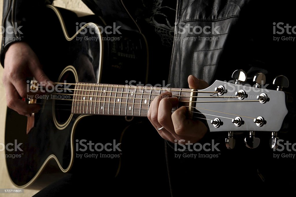 Guitarist On Stage royalty-free stock photo
