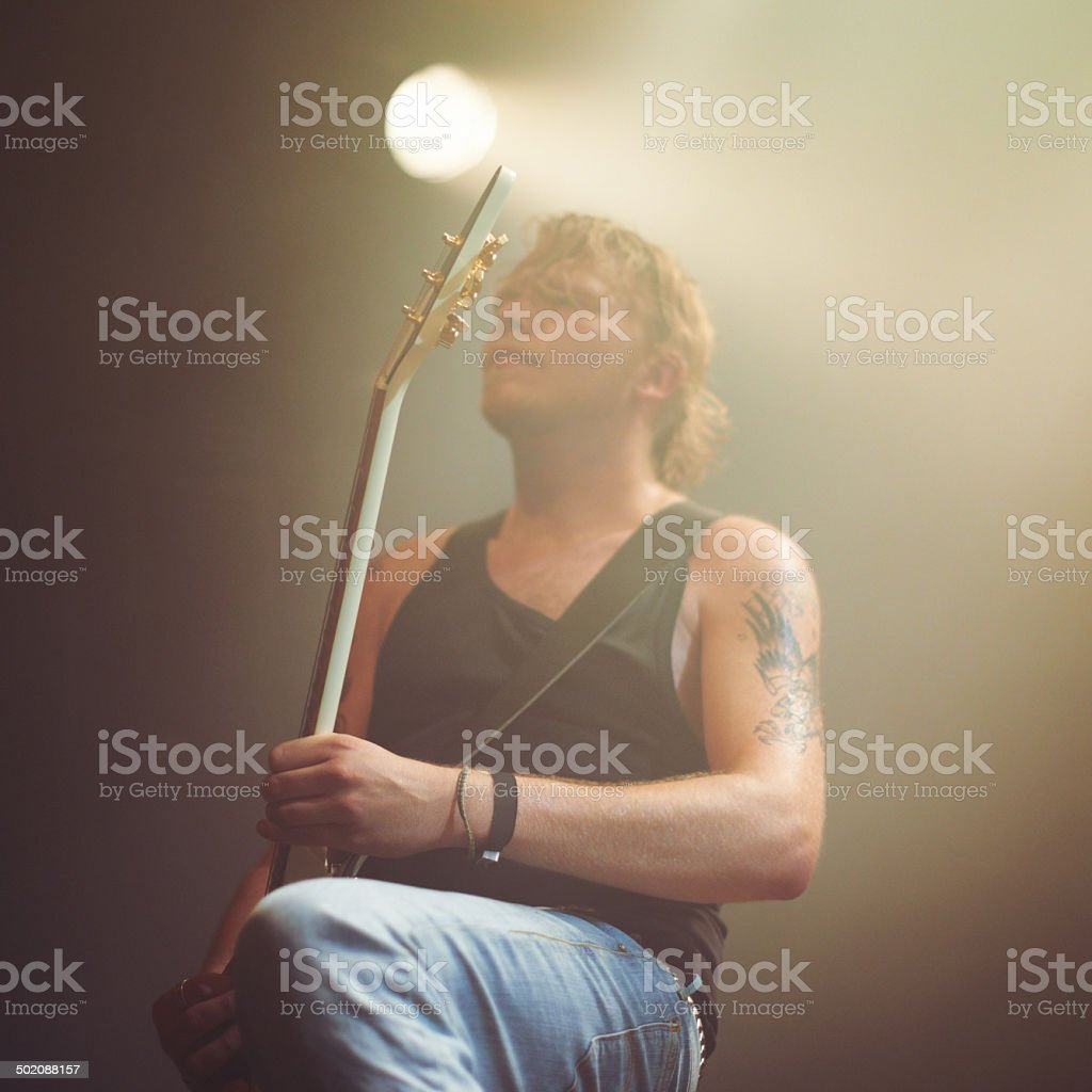 Opening with a rocking riff royalty-free stock photo
