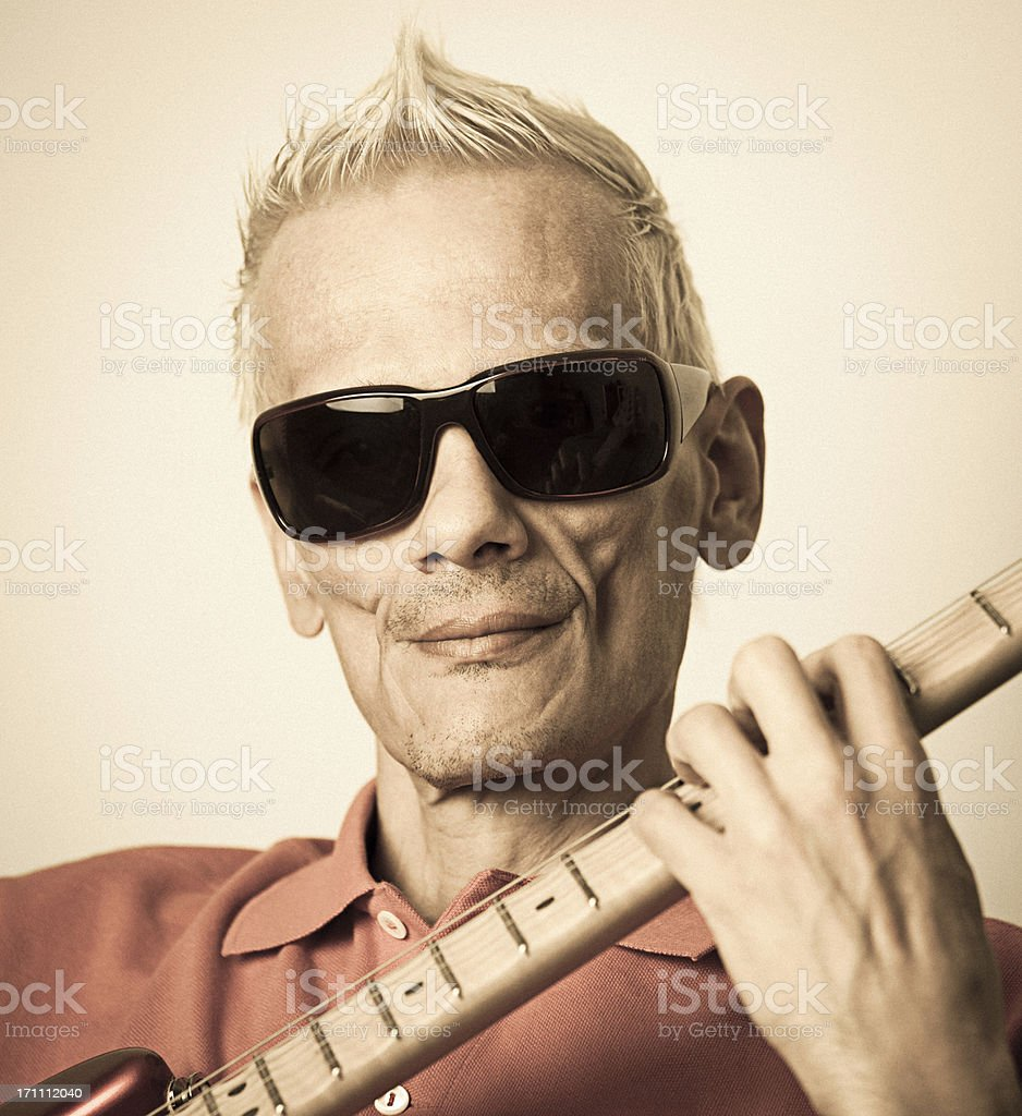 Guitarist royalty-free stock photo