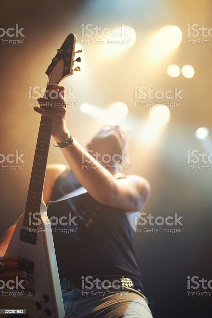 Hitting all the right notes royalty-free stock photo