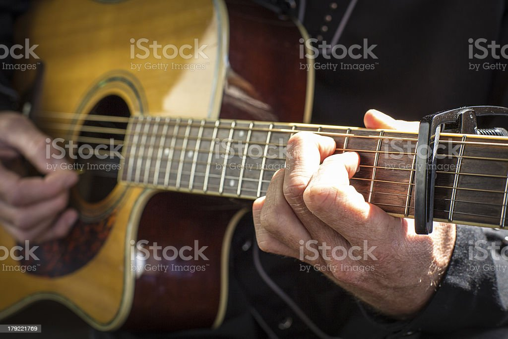 Guitarist Playing royalty-free stock photo