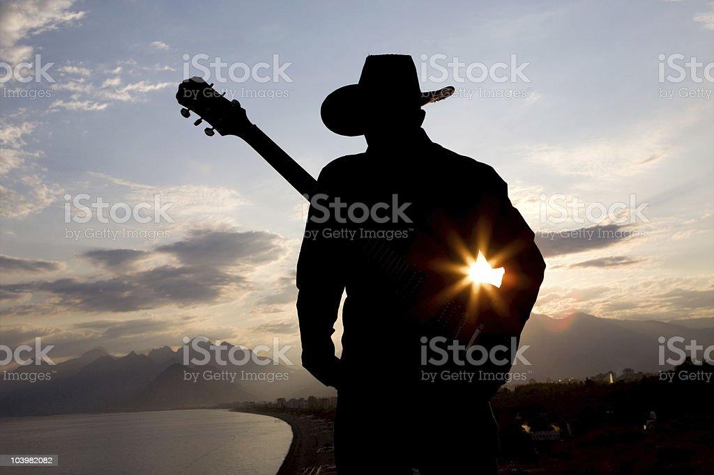 Guitarist Series royalty-free stock photo