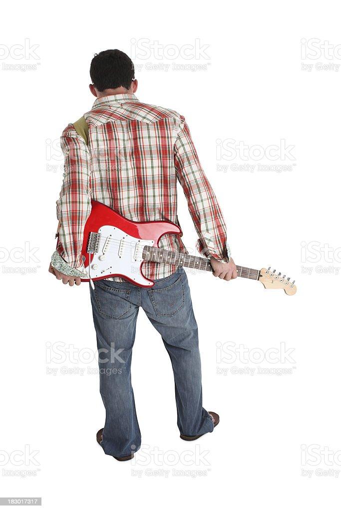 Guitarist with Attitude stock photo
