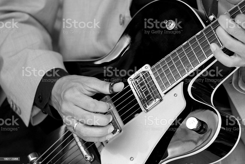 Guitarplayer stock photo
