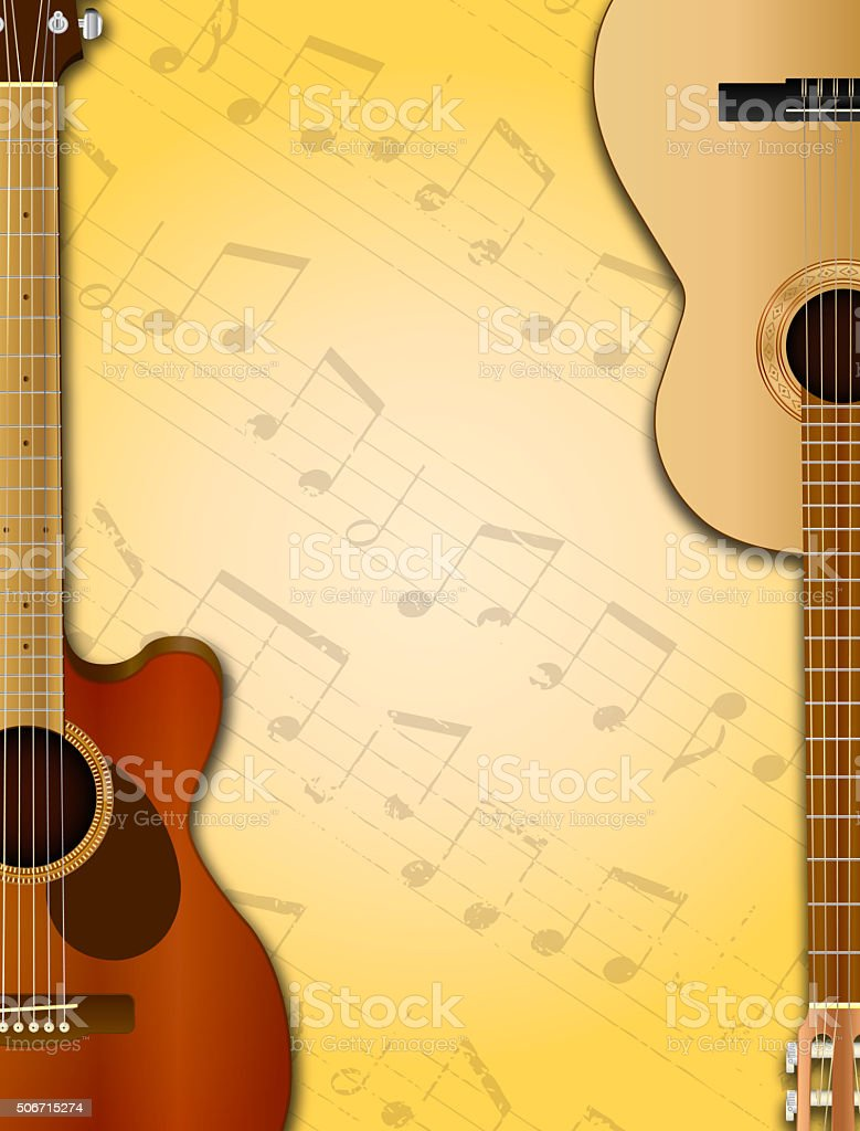 Guitars Background stock photo